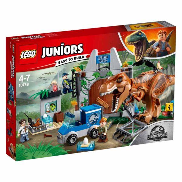 10758 - L'evasione del T. rex - Lego Juniors - Toys Center LEGO JUNIORS Unisex 3-5 Anni, 5-8 Anni JURASSIC WORLD
