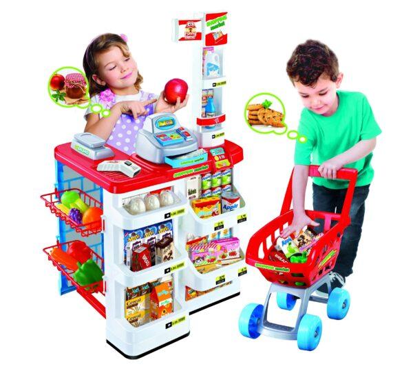FUNNY HOME Banco del supermercato con accessori TOYS CENTER Unisex 12-36 Mesi, 12+ Anni, 3-5 Anni, 5-8 Anni, 8-12 Anni FUNNY HOME
