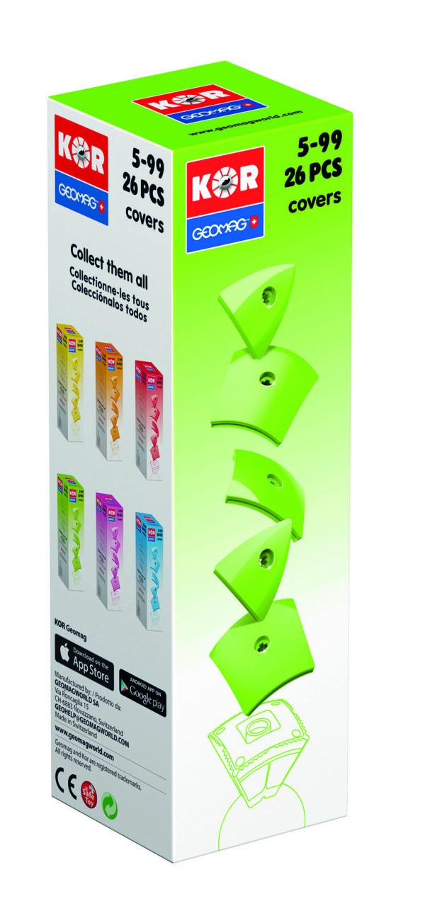 KOR Color Cover Green - GEOMAGWORLD - Marche KOR Unisex 3-5 Anni, 5-7 Anni, 5-8 Anni, 8-12 Anni ALTRI