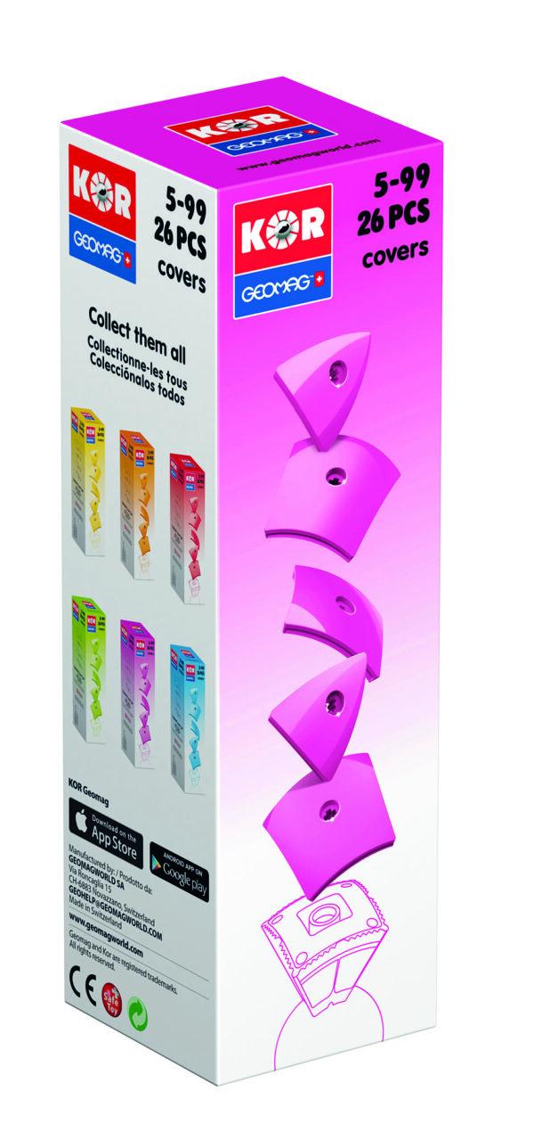 KOR Color Cover Pink - GEOMAGWORLD - Marche KOR Unisex 3-5 Anni, 5-7 Anni, 5-8 Anni, 8-12 Anni ALTRI