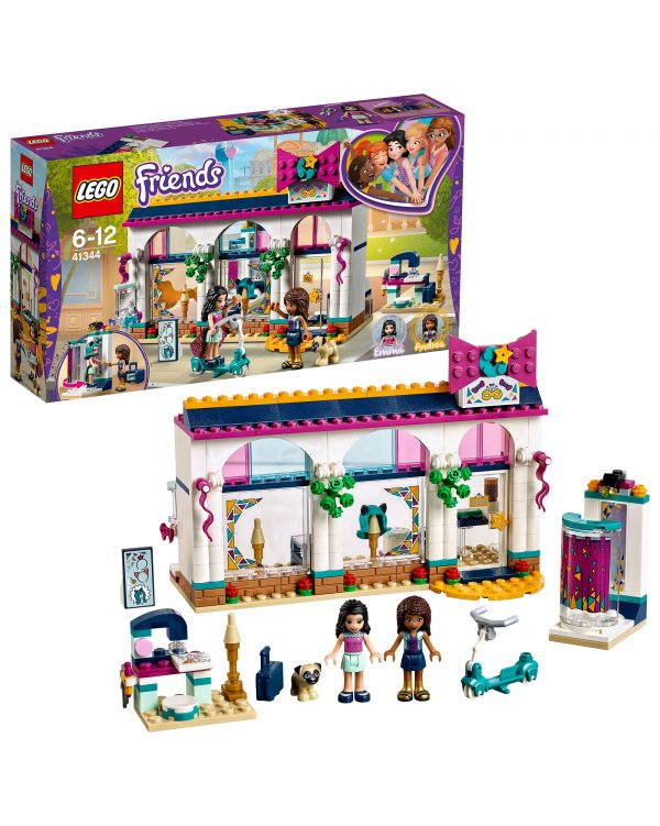 LEGO 41344 - Il negozio di accessori di Andrea ALTRI Unisex 12+ Anni, 5-8 Anni, 8-12 Anni LEGO FRIENDS