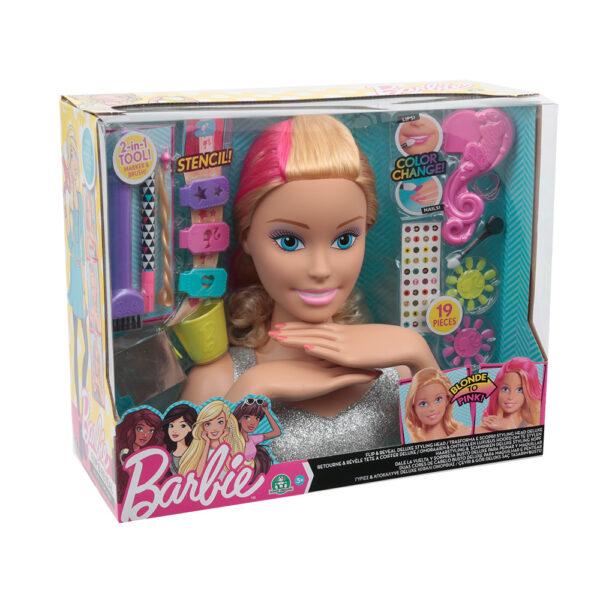 Giochi Preziosi - Barbie Styling Head Magic Look Barbie Femmina 12-36 Mesi, 8-12 Anni ALTRI