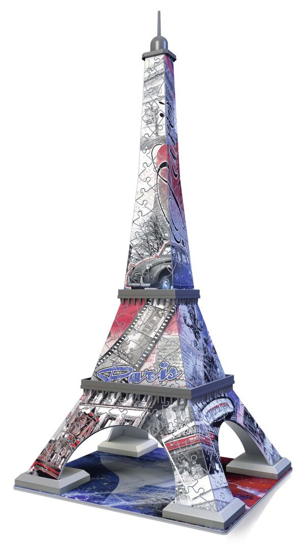 3D Flag edition: Tour Eiffel - Ravensburger Puzzle 3d - Toys Center ALTRI Unisex 12+ Anni, 8-12 Anni RAVENSBURGER PUZZLE 3D