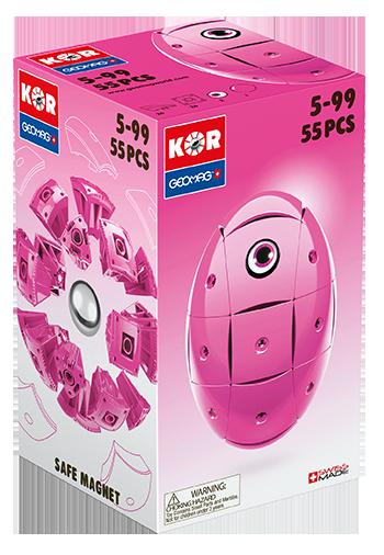 KOR Color Pink - GEOMAGWORLD - Marche KOR Unisex 3-5 Anni, 5-7 Anni, 5-8 Anni, 8-12 Anni ALTRI