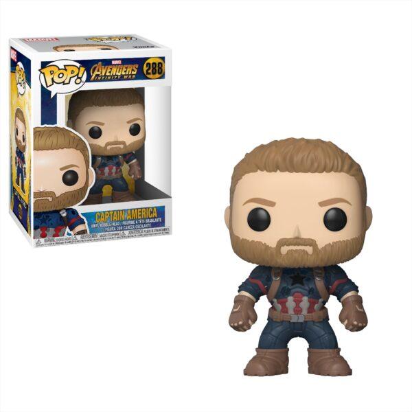 POP Marvel: Avengers Infinity War - Captain America Marvel Unisex 12-36 Mesi, 12+ Anni, 3-5 Anni, 5-8 Anni, 8-12 Anni Avengers