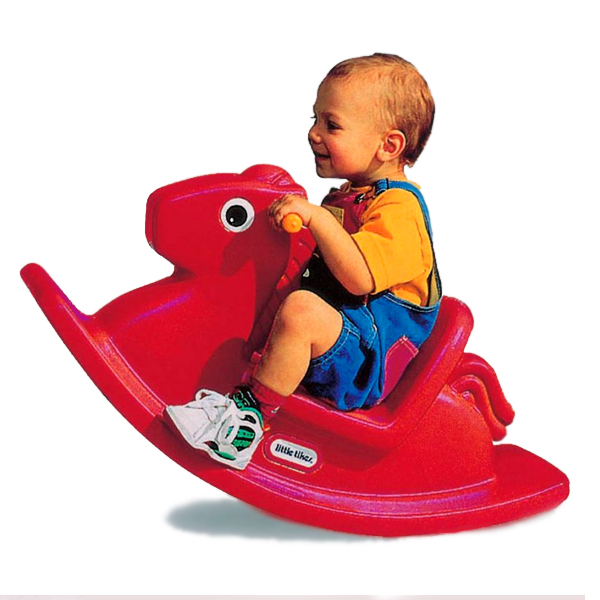 Cavallo a dondolo rosso - Toys Center