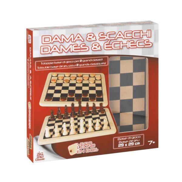 ZIG ZAG Dama e scacchi in legno ZIG ZAG Unisex 5-8 Anni ALTRI