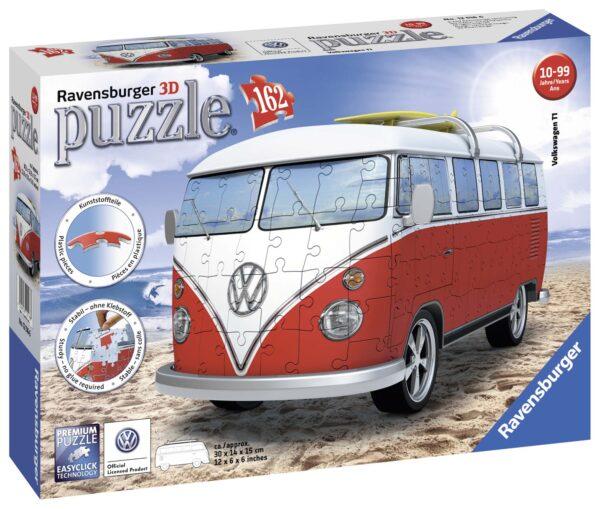 3D Puzzle Building - Camper Volkswagen - Altro - Toys Center ALTRI Unisex 12+ Anni, 8-12 Anni ALTRO
