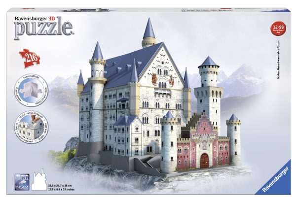 Puzzle 3D Neuschwanstein Castle - Giocattoli Toys Center RAVENSBURGER PUZZLE 3D Unisex 12+ Anni, 8-12 Anni ALTRI