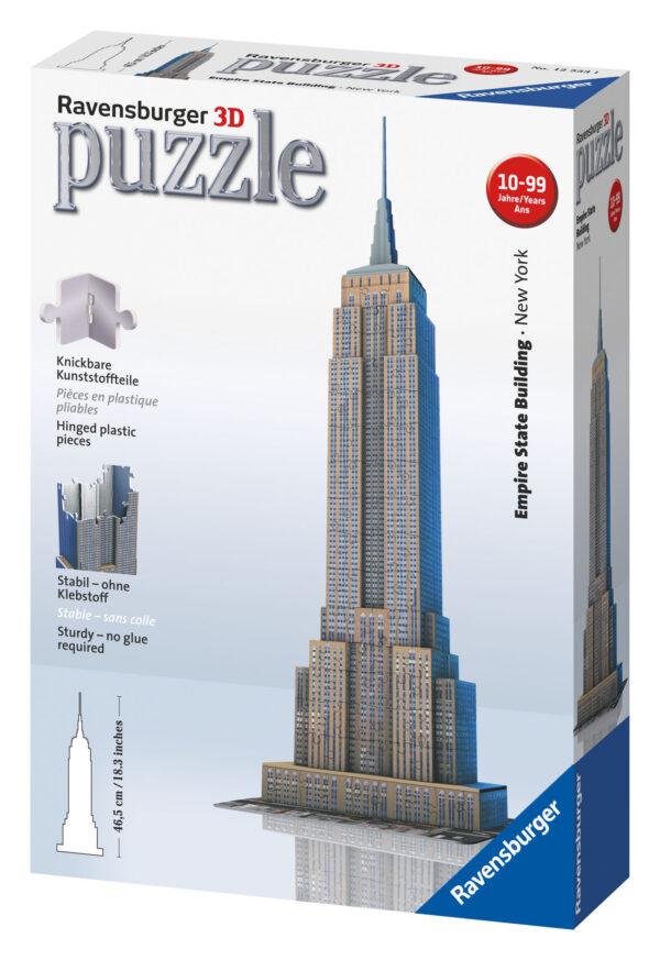 Puzzle 3D Empire State Building - Ravensburger Puzzle 3d - Toys Center - RAVENSBURGER PUZZLE 3D - Puzzle 3D