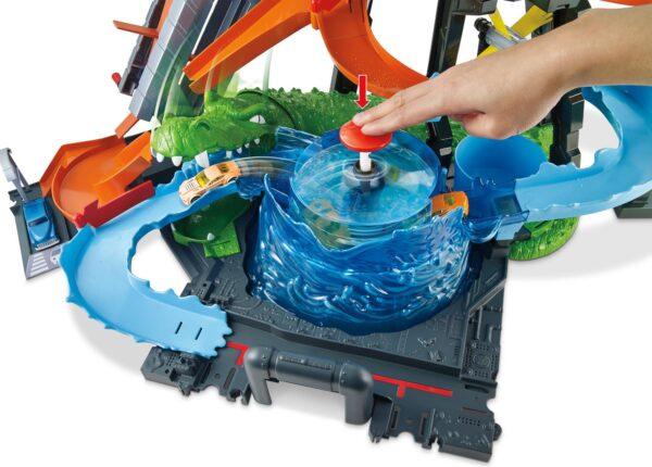 Hot Wheels - Mega Autolavaggio, Playset Per Macchinine Con Pista e Veicolo Cambiacolore, Giocattolo Per Bambini 5 + Anni ALTRI Maschio 8-12 Anni Hot Wheels