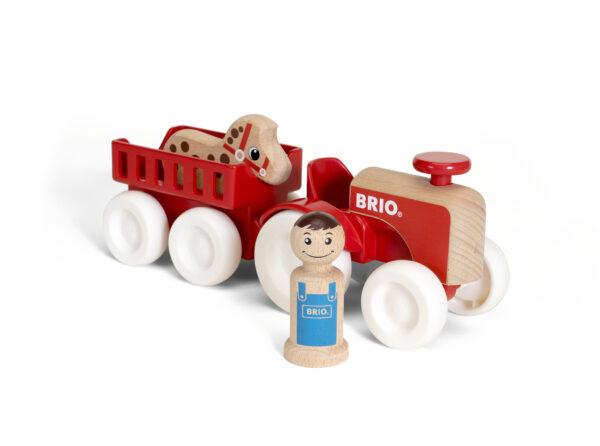 BRIO set trattore e rimorchio con cavallo - BRIO - Fino al -20%