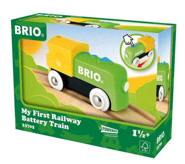 BRIO la mia prima ferrovia: locomotiva a batterie BRIO Unisex 0-2 Anni, 12-36 Mesi, 3-4 Anni, 3-5 Anni ALTRI