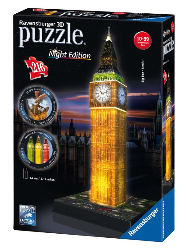 3D Building Big Ben Night Edition RAVENSBURGER PUZZLE 3D Unisex 12+ Anni, 8-12 Anni ALTRI