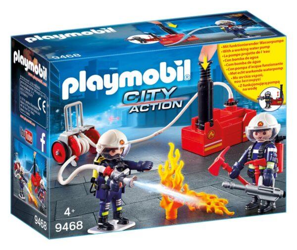 SQUADRA DEI VIGILI DEL FUOCO CON POMPA D'ACQUA - Playmobil - City Action - Toys Center - PLAYMOBIL - CITY ACTION - Costruzioni