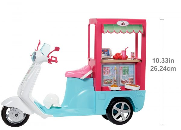 ENCHANTIMALS ALTRI Barbie - Scooter Street Food, con tanti accessori realistici - FHR08 Femmina 12-36 Mesi, 12+ Anni, 3-5 Anni, 5-8 Anni, 8-12 Anni