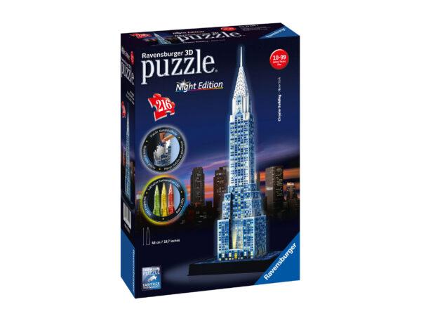 3D Building Chrysler Building - Ravensburger Puzzle 3d - Toys Center RAVENSBURGER PUZZLE 3D Unisex 12+ Anni, 8-12 Anni ALTRI