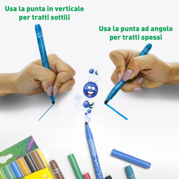 ALTRI ALTRO Unisex 12-36 Mesi, 12+ Anni, 3-5 Anni, 5-8 Anni, 8-12 Anni 10 Pennarelli lavabili profumati punta media i Profumelli Crayola