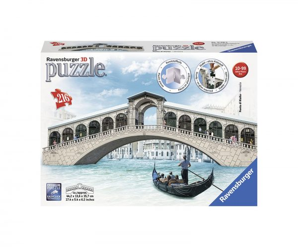 3D Puzzle Building - Ponte di Rialto - Altro - Toys Center ALTRO Unisex 12+ Anni, 8-12 Anni ALTRI