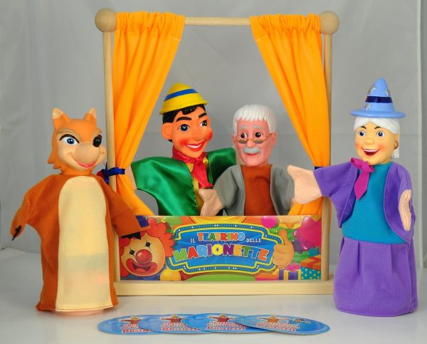 ALTRI WOOD 'N' PLAY Unisex 12-36 Mesi, 3-5 Anni, 5-8 Anni, 8-12 Anni WOOD'N PLAY Teatrino in legno con marionette