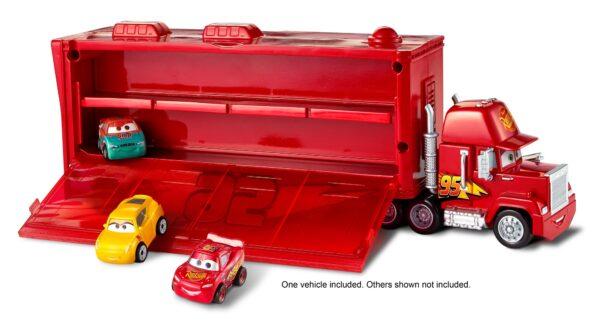 DISNEY - PIXAR CARS Cars 3 - Mack Trasportatore Mini Racers, con un Mini Racer incluso, può contenere fino a 16 Mini Racers - FLG70 - Disney - Pixar - Toys Center Maschio 12+ Anni, 8-12 Anni