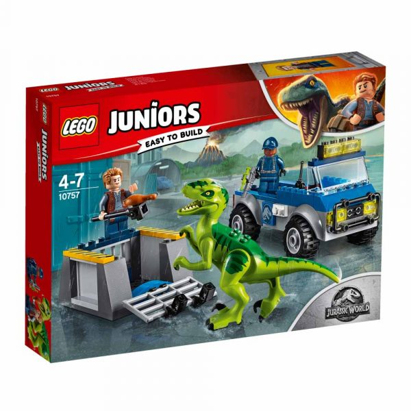 10757 - Camion per il soccorso di Velociraptor - Lego Juniors - Toys Center LEGO JUNIORS Unisex 3-5 Anni, 5-8 Anni JURASSIC WORLD
