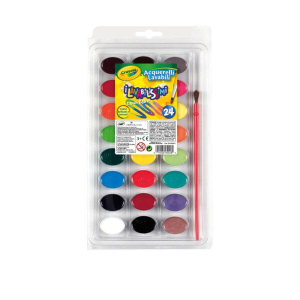 24 Acquerelli i Lavabilissimi Crayola - Giocattoli Toys Center CRAYOLA Unisex 12-36 Mesi, 12+ Anni, 3-4 Anni, 3-5 Anni, 5-7 Anni, 8-12 Anni ALTRI