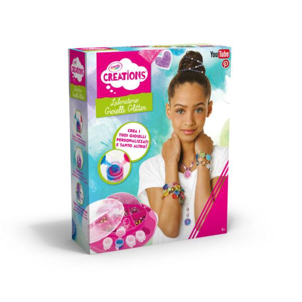 Laboratorio dei Gioielli Glitter Crayola Creations ALTRO Femmina 12+ Anni, 5-8 Anni, 8-12 Anni ALTRI