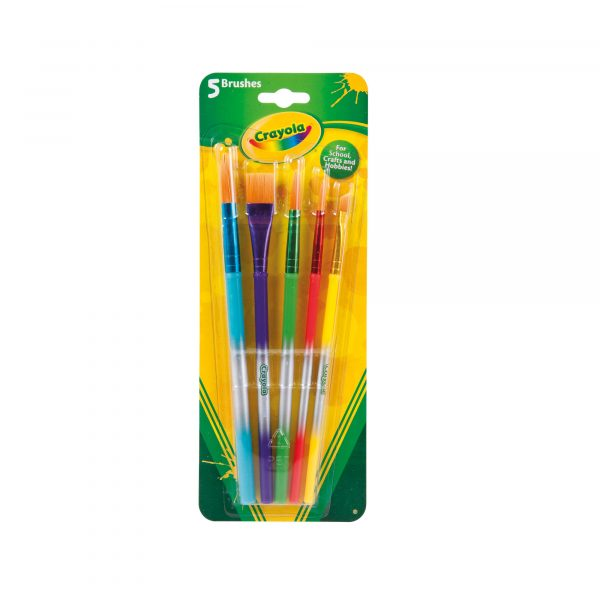5 Pennelli assortiti Crayola - Altro - Toys Center CRAYOLA Unisex 12-36 Mesi, 12+ Anni, 3-5 Anni, 5-8 Anni, 8-12 Anni ALTRI