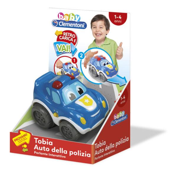 Tobia Auto Polizia - Baby Clementoni - Toys Center ALTRI Unisex 0-2 Anni, 3-4 Anni BABY CLEMENTONI