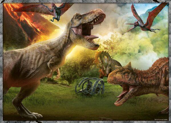 JURASSIC WORLD RAVENSBURGER PUZZLE Unisex 12+ Anni, 8-12 Anni Jurassic World  - Puzzle 4x100 pezzi Ravensburger