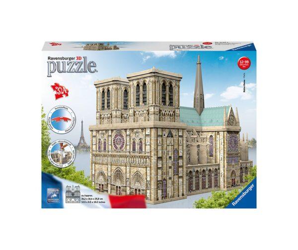 Notre Dame - Puzzle 3D Building Maxi Ravensburger RAVENSBURGER PUZZLE 3D Unisex 12+ Anni, 8-12 Anni ALTRI