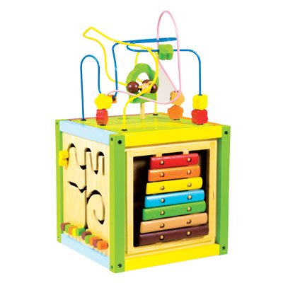 WOOD'N PLAY Cubo multiattività TOYS CENTER Unisex 12-36 Mesi, 3-5 Anni, 5-8 Anni WOOD'N PLAY