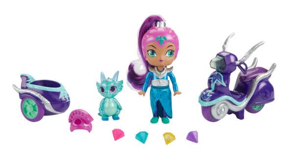 Shimmer & Shine - Scooter di Zeta, grande bambola di Zeta con scooter e Nazboo 3+ anni - FHN31 ALTRO Femmina 12-36 Mesi, 12+ Anni, 3-5 Anni, 5-8 Anni, 8-12 Anni SHIMMER & SHINE