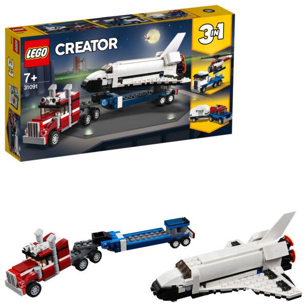 31091 - Trasportatore di shuttle - Lego Creator - Toys Center LEGO CREATOR Unisex 12+ Anni, 5-8 Anni, 8-12 Anni ALTRI