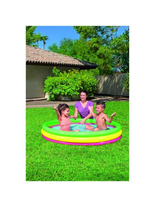 BESTWAY PISCINA SUMMER A  3 ANELLI COLOR CON FONDO GONFIABILE 152X30 CM 3-4 Anni, 5-7 Anni Unisex ALTRO ALTRI