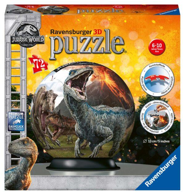 Jurassic World - 3D Puzzleball Ravensburger RAVENSBURGER PUZZLE 3D Unisex 12+ Anni, 8-12 Anni JURASSIC WORLD