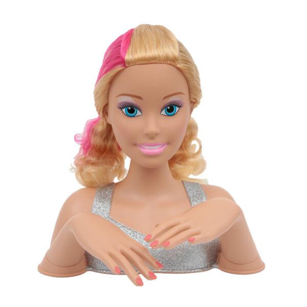 Giochi Preziosi - Barbie Styling Head Magic Look ALTRI Femmina 12-36 Mesi, 8-12 Anni Barbie