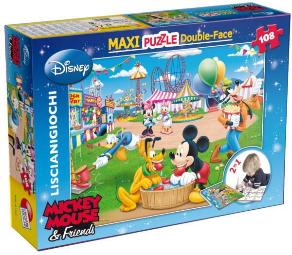 LISCAINI - PUZZLE DF SUPERMAXI 108 MICKEY Disney Unisex 12-36 Mesi, 3-5 Anni, 5-8 Anni TOPOLINO&CO.