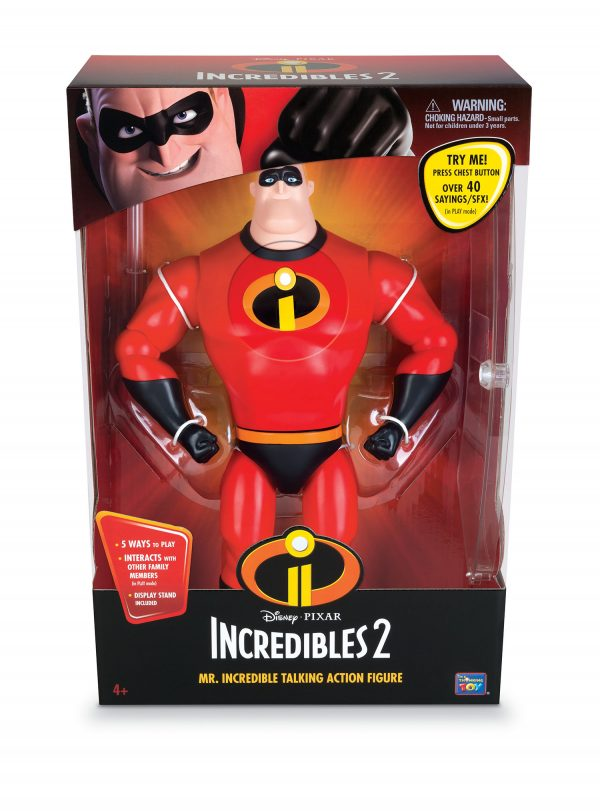 MR INCREDIBLE 33CM CON FUNZIONI - DISNEY - PIXAR - Linee - DISNEY - PIXAR - Action figures
