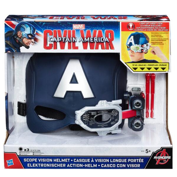 Elmetto Elettronico Capitan America - Marvel - Giochi di ruolo e accessori
