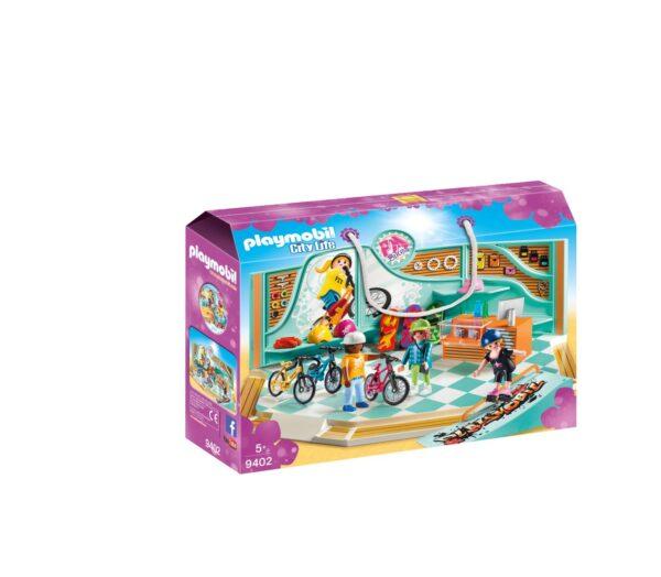 NEGOZIO DI SKATE E BICICLETTE - Playmobil - City Life - Toys Center Playmobil City Life Femmina 12+ Anni, 3-5 Anni, 5-8 Anni, 8-12 Anni ALTRI