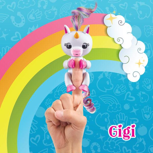 Giochi Preziosi - Fingerlins Unicorno Gigi - Altro - Toys Center ALTRI Femmina 12+ Anni, 8-12 Anni ALTRO