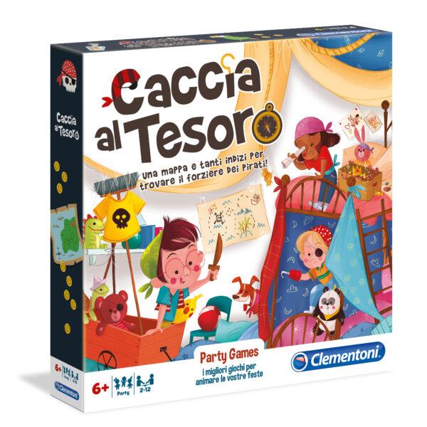PARTY GAMES - CACCIA AL TESORO CLEMENTONI - GIOCHI DA TAVOLO Unisex 5-8 Anni, 8-12 Anni ALTRI