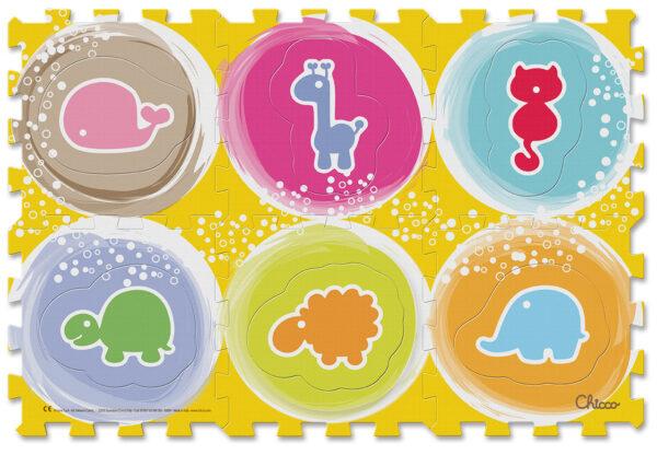 ALTRI Chicco Unisex 0-12 Mesi Tappeto Puzzle Animali - ARTSANA - Marche