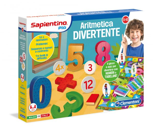 CLEMENTONI - 11919 - Aritmetica Divertente SAPIENTINO Unisex 3-5 Anni, 5-7 Anni, 5-8 Anni, 8-12 Anni ALTRI