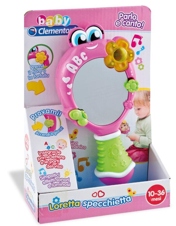 CLEMENTONI - 14902 - Loretta specchietta ALTRI Unisex 0-12 Mesi, 12-36 Mesi, 3-5 Anni BABY CLEMENTONI