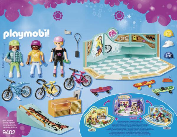 NEGOZIO DI SKATE E BICICLETTE - Playmobil - City Life - Toys Center ALTRI Femmina 12+ Anni, 3-5 Anni, 5-8 Anni, 8-12 Anni Playmobil City Life