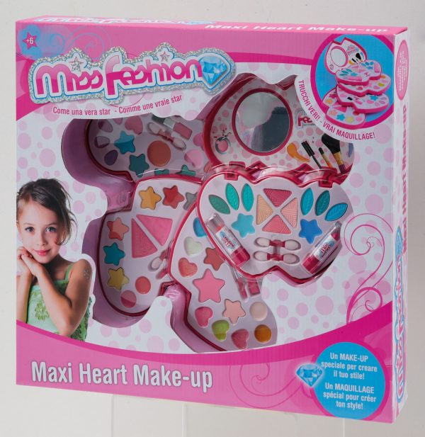 MAXI MAKE UP CUORE TOYS CENTER Femmina 12+ Anni, 5-8 Anni, 8-12 Anni MISS FASHION