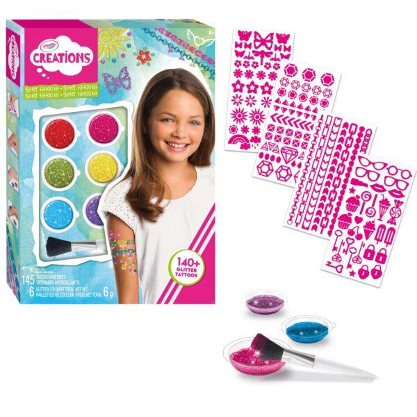 Tatuaggi Arcobaleno Crayola Creations ALTRI Femmina 12+ Anni, 5-8 Anni, 8-12 Anni ALTRO